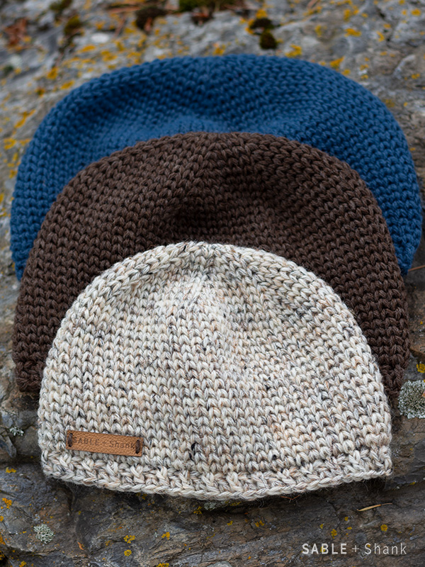 Free crochet knit stitch hat pattern - 8 sizes for men and boys