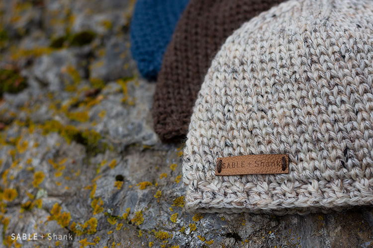 A crochet stitchthat looks like knitting! This stitch makes the warmest hats for your guys this winter.