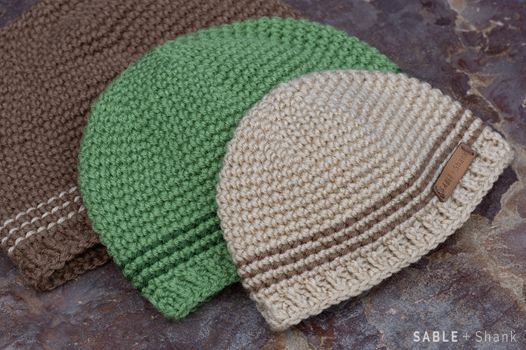 Crochet a simple single crochet beanie for eeryone from newborns to adults with this free pattern.